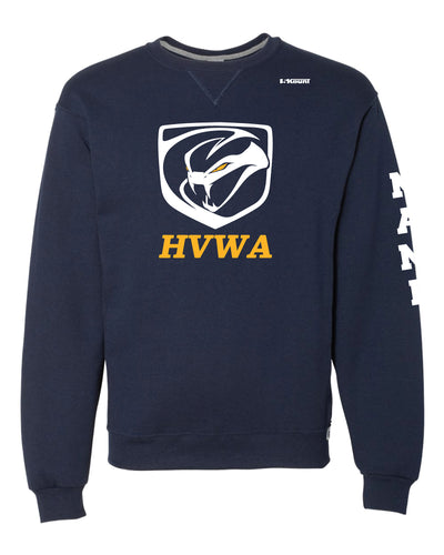 HVWA Russell Athletic Cotton Crewneck Sweatshirt - Navy - 5KounT2018