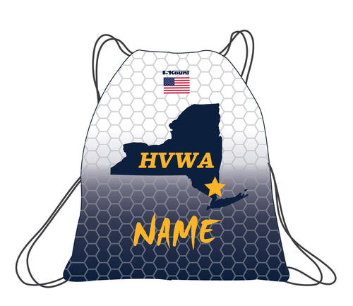 HVWA Sublimated Drawstring Bag - White/Navy - 5KounT2018