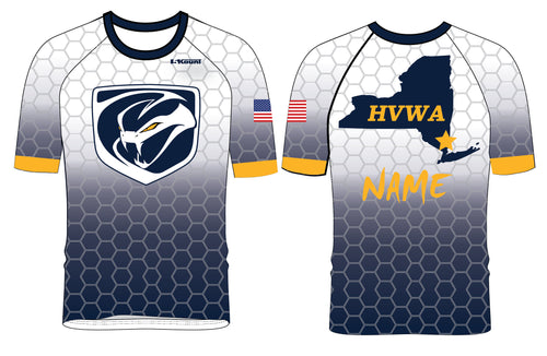 HVWA Sublimated Fight Shirt - White/Navy - 5KounT2018