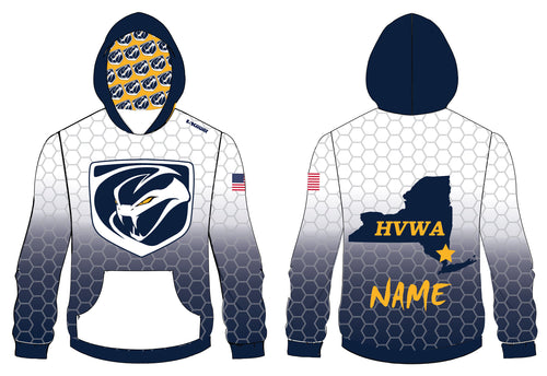 HVWA Sublimated Hoodie - White/Navy - 5KounT2018