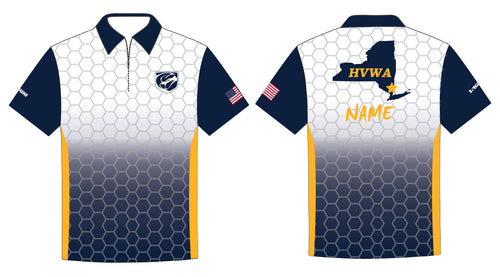 HVWA Sublimated Polo - White/Navy - 5KounT2018