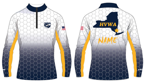 HVWA Sublimated Quarter Zip Design 1 - White/Navy - 5KounT2018
