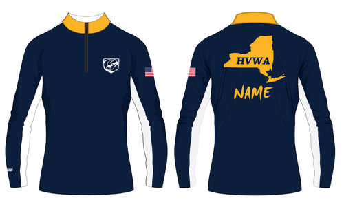 HVWA Sublimated Quarter Zip Design 2 - White/Navy - 5KounT2018