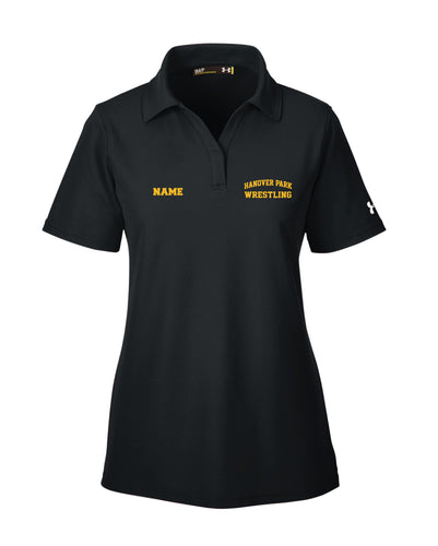 Hanover Park Wrestling Under Armour Ladies' Corp Performance Polo - Black - 5KounT2018