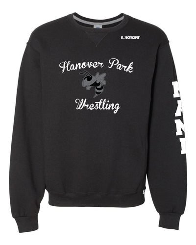 Hanover Park Youth Wrestling Russell Athletic Cotton Crewneck Sweatshirt - Black - 5KounT2018