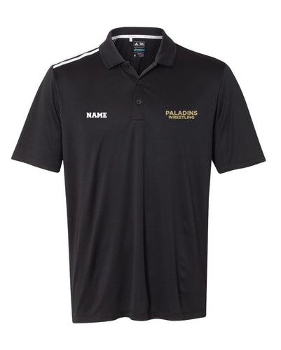 Paramus Catholic Wrestling Adidas Men's Dryfit Polo - Black - 5KounT2018