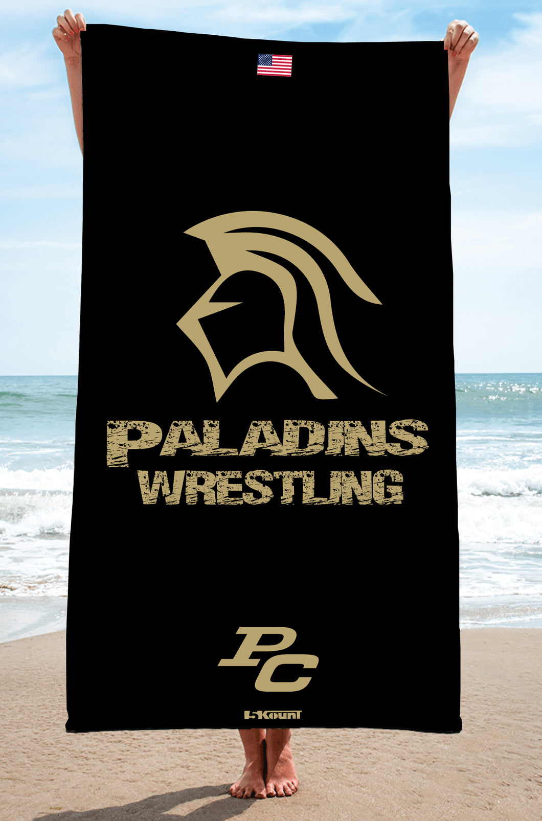Paramus Catholic Wrestling Sublimated Beach Towel