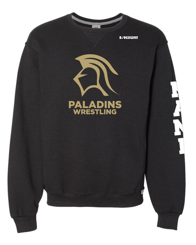 Paramus Catholic Wrestling Russell Athletic Cotton Crewneck Sweatshirt - Black - 5KounT2018