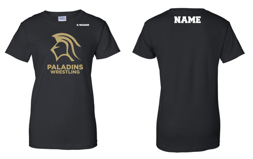 Paramus Catholic Wrestling Cotton Women's Crew Tee - Black - 5KounT2018