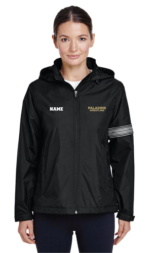 Paramus Catholic Wrestling All Season Hooded Women's Jacket - Black - 5KounT2018