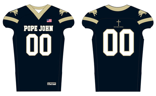 Pope John Football  Sublimated Jersey - Navy