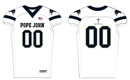 Pope John Football  Sublimated Jersey - White