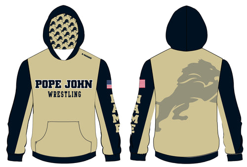 Pope John Wrestling Sublimated Hoodie - Gold