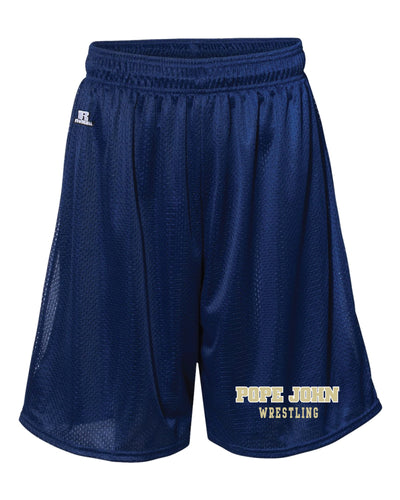Pope John Wrestling Russell Athletic  Tech Shorts - Navy