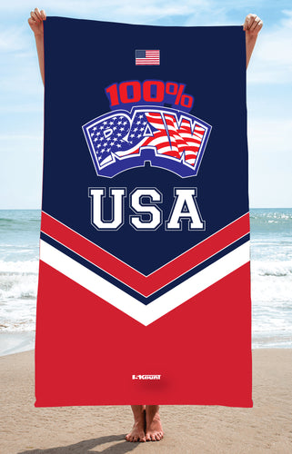 RAW USA Sublimated Beach Towel