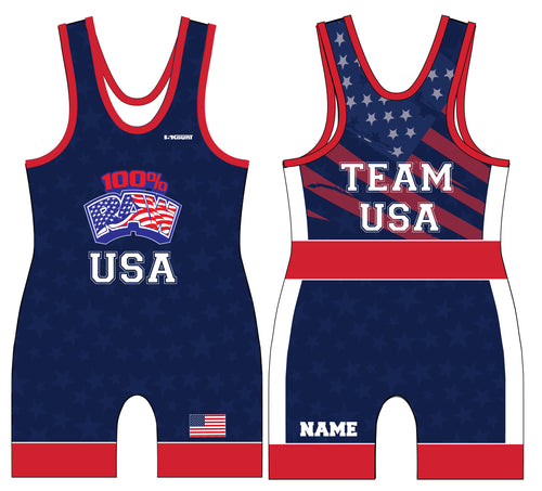 RAW USA Sublimated Star Singlet