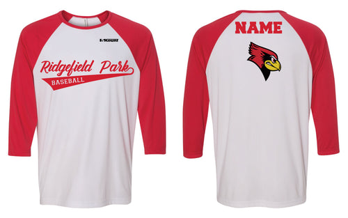 Ridgefield Park Baseball Shirt - Red/White or Black/White - 5KounT