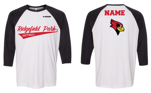 Ridgefield Park Softball Shirt - Red/White or Black/White - 5KounT2018