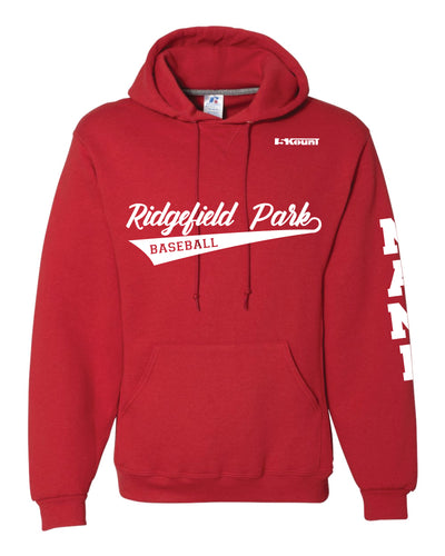 Ridgefield Park Baseball Russell Athletic Cotton Hoodie - Red/Black/Grey - 5KounT2018