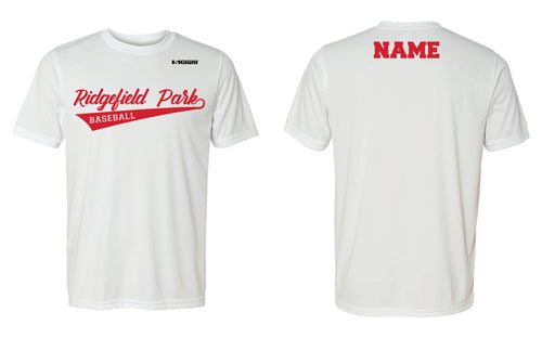 Ridgefield Park Baseball DryFit Performance Tee - White/Black/Grey - 5KounT