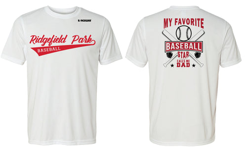 Ridgefield Park Baseball MOM & DAD DryFit Design 1 - White/Red/Grey - 5KounT