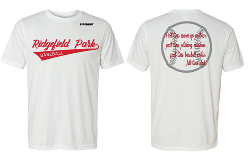 Ridgefield Park Baseball MOM & DAD DryFit Design 3 - White/Red/Grey - 5KounT