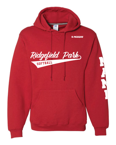 Ridgefield Park Softball Russell Athletic Cotton Hoodie - Red/Black/Grey - 5KounT2018