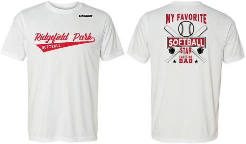 Ridgefield Park Softball MOM & DAD DryFit Design 1 - White/Red/Grey - 5KounT2018