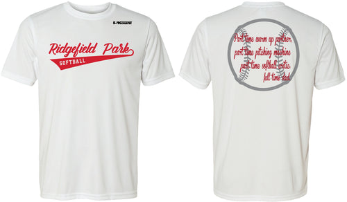 Ridgefield Park Softball MOM & DAD DryFit Design 3 - White/Red/Grey - 5KounT2018