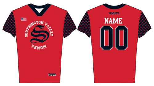 Southington Valley Venom Football Sublimated Fan Game Jersey - 5KounT2018