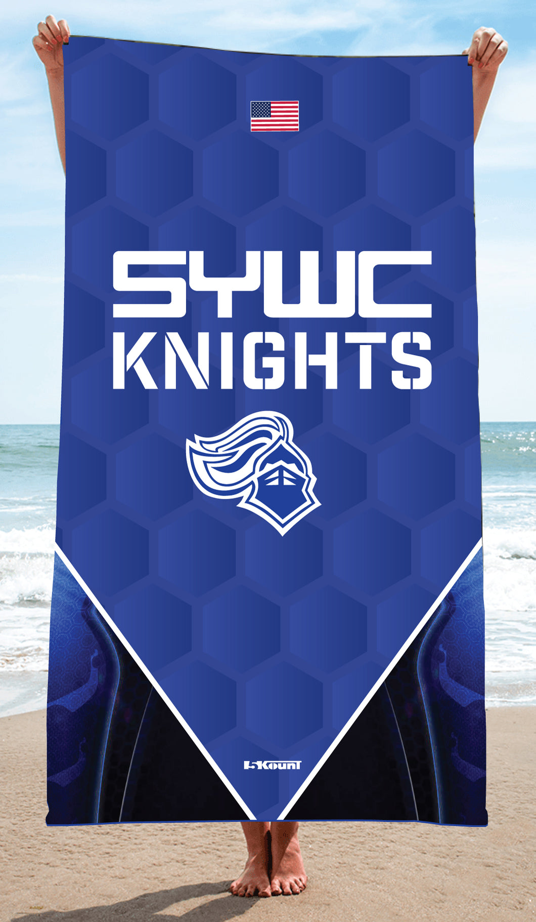 SYWC Sublimated Beach Towel