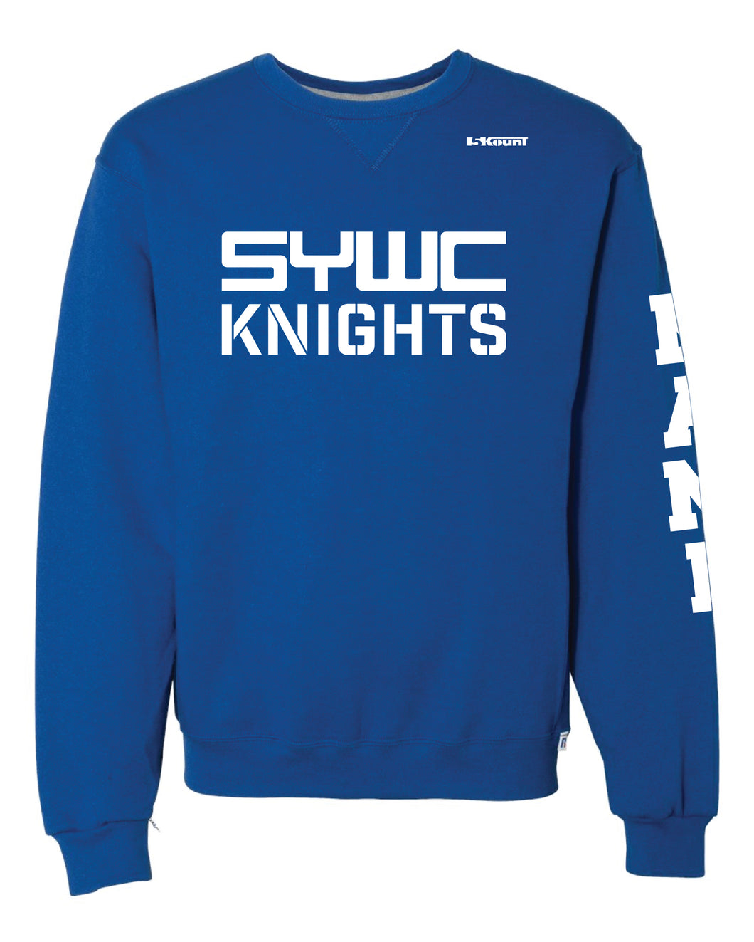 SYWC Russell Athletic Cotton Crewneck Sweatshirt - Royal