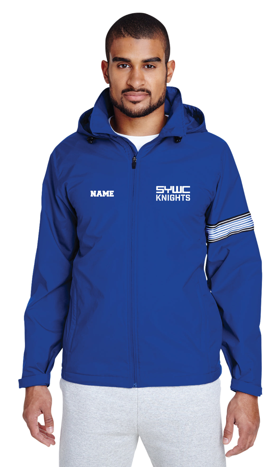 SYWC All Season Hooded Men's Jacket - Royal - 5KounT2018