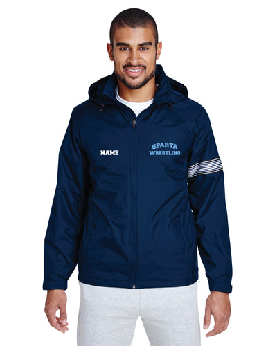 Sparta HS Wrestling All Season Hooded Men's Jacket - Navy