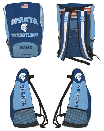 Sparta HS Wrestling Sublimated Backpack
