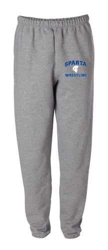 Sparta HS Wrestling Cotton Sweatpants - Grey