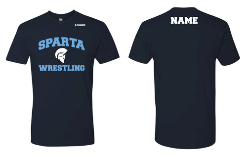 Sparta HS Wrestling Cotton Crew Tee - Navy