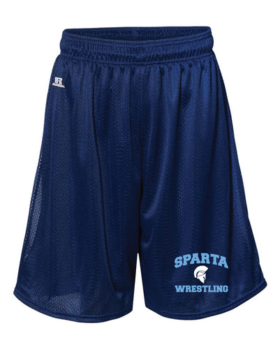 Sparta HS Wrestling Russell Athletic Tech Shorts - Navy