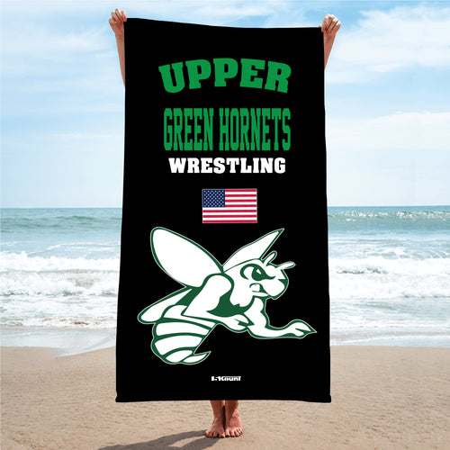 Upper Township Wrestling Sublimated Beach Towel - 5KounT2018