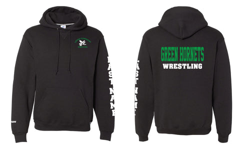 Upper Township Wrestling Cotton Hoodie - Black / Gray - 5KounT2018
