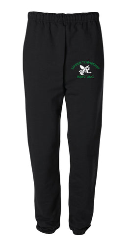 Upper Township Wrestling Cotton Sweatpants - Black / Gray - 5KounT2018