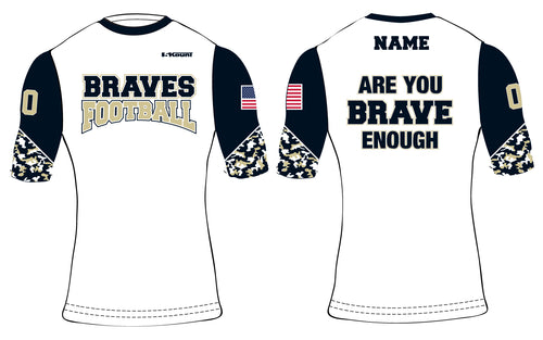 Braves Football Sublimated Compression Shirt Style 2 - 5KounT2018