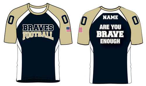 Braves Football Sublimated Mesh Shirt Style 2 - 5KounT2018