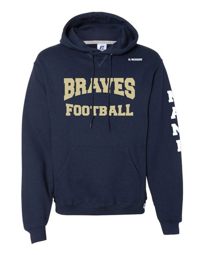 Braves Football Russell Athletic Cotton Hoodie - Navy Style 2 - 5KounT2018