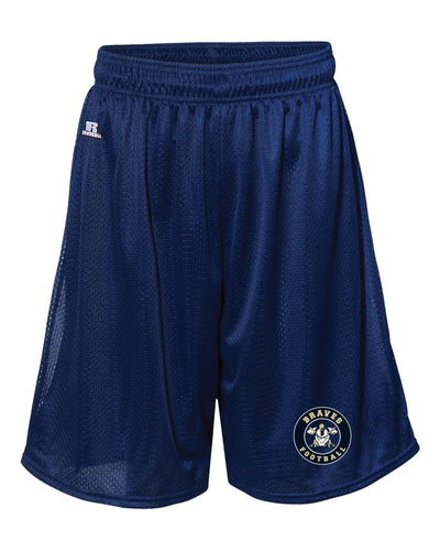 Braves Football Russell Athletic  Practice Tech Shorts - Navy - 5KounT2018