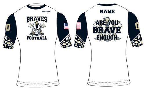 Braves Football Sublimated Compression Shirt Style 1 - 5KounT2018