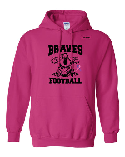 Braves Football Cotton Hoodie - Sport Charity Pink - 5KounT2018