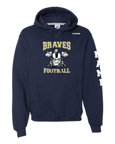 Braves Football Russell Athletic Cotton Hoodie - Navy Style 1 - 5KounT2018