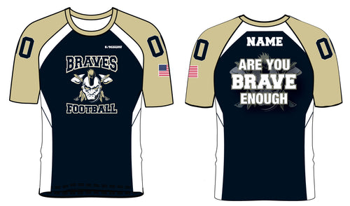 Braves Football Sublimated Mesh Shirt Style 1 - 5KounT2018