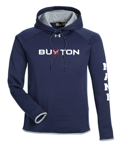Buxton Under Armour Men's Double Threat Armour Fleece® Hoodie - Navy - 5KounT2018